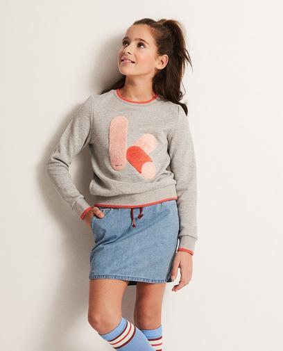 Sweater mit Bouclé-Print